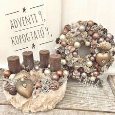 72 Trend Simple Rustic Winter Christmas Centerpiece – Welcome My World Winter Centerpieces, Candle Centerpieces, Christmas Colors, Winter Christmas, New Year Diy, Christmas Crafts, Christmas Decorations, Table Decorations, Xmas Wreaths