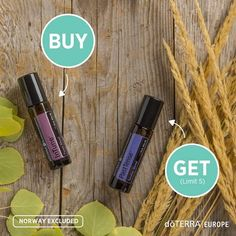 Wednesday's Buy one Get one free from DoTERRA Europe . Buy In Tune Blend and Get past Tense blend free Doterra Blends, Free Deals, Buy One Get One, Essential Oils, Stuff To Buy, Essential Oil Uses, Essential Oil Blends