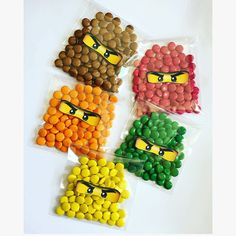 10x Lego Ninjago personalised party favors sweet bags