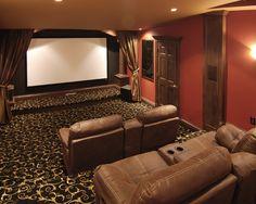 Carpet Media Room Design Kids Small Rooms Seating