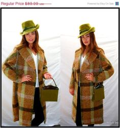 Tweed Its Cold Outside, Vintage Coat, Tweed, Bohemian, Plaid, Wool, Trending Outfits, Baby, Fashion