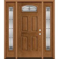 Entry Door With Sidelights, Entry Doors With Glass, Craftsman Exterior Door, Exterior Doors, Timber Door, Front Door Design, Window Design, Rustic Doors, Modern Door