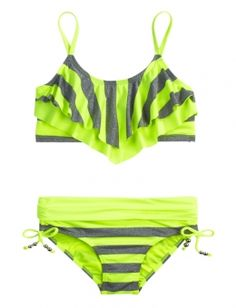 Shop Stripe Flounce Bikini Swimsuit and other trendy girls swimsuits swimwear at Justice. Find the cutest girls swimwear to make a statement today.
