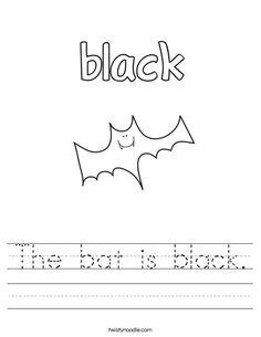 Color Black Worksheet | Color worksheets, Preschool ...