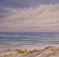 Oil on canvas - Seascape.