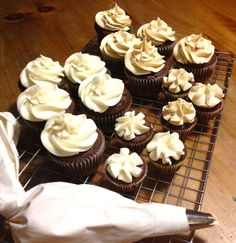Best Ever Chocolate Cupcakes - This chocolate cupcake recipe starts with a cake mix but they turn out so moist and dense you (and everyone else) will think they are made from scratch. Top with your favorite frosting or the PB Cream Cheese Frosting linked with the recipe.