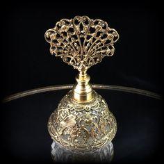Antiguo Perfume botella Perfume Vintage botella filigrana de