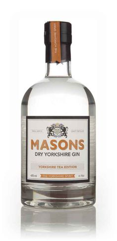 Masons Dry Yorkshire Gin - Yorkshire Tea Edition - Master of Malt Rum Bottle, Liquor Bottles, Yorkshire Gin, Gins Of The World, Gin Distillery, Gin Tasting, Gin Brands, Gin Lovers, Shopping