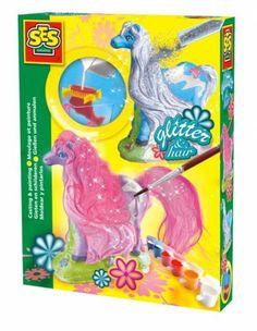 FANTAZYJNE KONIE odlew gipsowy z brokatem zabawki kreatywne dla dziewczynek