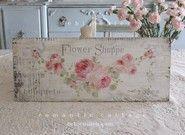 Shabby Romantic Flower Shoppe Sign