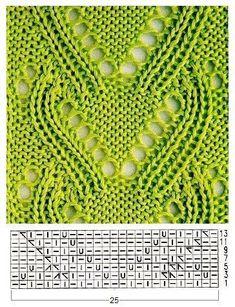 free lace knitting stitch pattern (chart only) Winter Knitting Patterns, Lace Knitting Stitches, Lace Knitting Patterns, Knitting Charts, Lace Patterns, Stitch Patterns, Sock Knitting, Knitting Tutorials, Knitting Machine