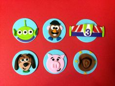 12 Toy Story Party Fondant Cupcake Toppers by ToppingItSweetly, $27.00