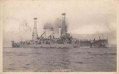 U.S.S. Louisiana BB-19 U.S. Navy Battleship Vintage B/W Real Photo Postcard RPPC