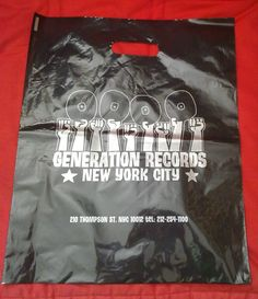 #GenerationRecords #RecordBag #Vinyl Vinyl Store, Repurpose, Feel Good, Nyc, Album, Feelings, Shop, Bags, Handbags