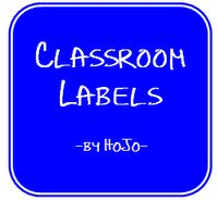 Labels for Classrooms!