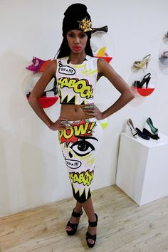 Pop Art Trend x Fashion, Style and Trends According To Jerri x The Link TV Show Pop Art Fashion, Quirky Fashion, Fashion Wear, Fashion Show, Womens Fashion, Fashion Clothes, Style Fashion, Latest Fashion, Supergirl