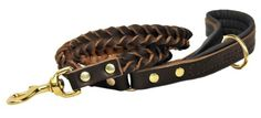 Dean  Tyler Comfort Braid Black Padding Dog Leash with Brown Ring on Handle and Solid Brass Hardware 4Feet by 34Inch ** You can get more details by clicking on the image.