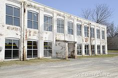 Old White Brick Factory Building Royalty Free Stock Photos - Image: 30510128