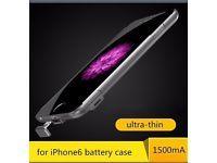 iPhone 6s /6s plus  Batterie Power Bank Case in Silber Nordrhein-Westfalen - Altenberge Vorschau