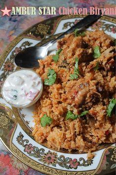 Ambur Star Chicken Biryani Recipe / Star Biryani (Biriyani / Briyani) Recipe