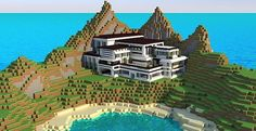 Modern Mansion – Cliff Side Escape | Minecraft Building Inc