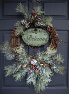 Rustic Christmas Wreaths - Outdoor Holiday Wreath - Wreaths - Holiday Decorations - Wreaths for Door - Outdoor Wreaths by Home Hearth Garden