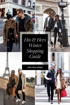 Sharing my winter shopping guide for guys and girls today on the blog. If you're looking for cute couple outfits, matching couple outfits, stylish outfits for men, winter outfits for men, winter outfits for women, or winter layers, click through to the Mia Mia Mine fashion blog. #couplegoals #cutecouples #winterfashion #style #mensfashion Stylish Winter Outfits, Winter Outfits For Work, Casual Fall Outfits, Winter Wardrobe Essentials, Matching Couple Outfits, Layering Outfits, Leather Jackets, Petite Fashion, Women's Fashion