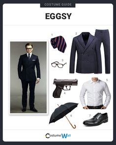 """The best costume guide for dressing up like Gary """"Eggsy"""" Unwin, the agent who is trained by Agent Harry in Kingsman: The Secret Service. Kingsman Costume, Got Costumes, Bff, Superhero Cosplay, Elegant Man, Formal Suits, Daily Dress, Outfit Grid, Fitted Suit"""