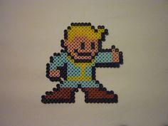 Fallout 4 PipBoy perler bead figure by MST3KNJPerlerArts on Etsy https://www.etsy.com/listing/237798293/fallout-4-pipboy-perler-bead-figure