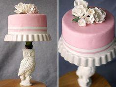 DIY Wedding Crafts : DIY: Cake Stand