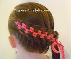 checkerboard french braid tutorial.  My little girl is going to love this new style in her hair!