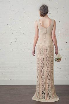 Crochetemoda Blog: Janeiro 2016 Diy Crochet Dress, Crochet Wedding Dresses, Crochet Clothes, Diy Crochet Projects, Vogue, Lace Knitting, Bridesmaid Dresses, Feminine, Women
