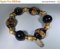 From my #etsy shop: Hilary London Handmade Designer Bracelet - Unique Murano Glass/Gold Filled/Glass Hypo-allergenic Beads Designer: Hilary London http://etsy.me/2HsiYth #hilarylondon #designerbracelet #handmadebracelet #muranoglassbracelet #faithfullyvintagemn