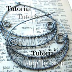 Tutorial - Woven Wire Hoop Earrings - Step by Step - Intermediate. €3.50, via Etsy.