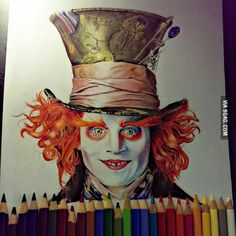 After watching Alice in Wonderland 2 I decided to draw Johnny Depp, what do you guys think?