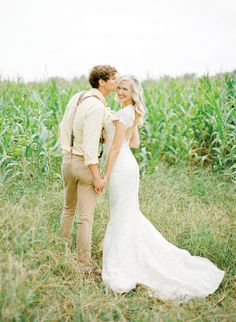 cornfield portrait | KT Merry #wedding