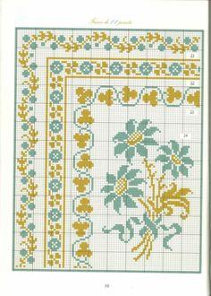Gallery.ru / Photo # 17 - Bordures et Frises Fleuries - Mongia site of cross stitch borders and motifs