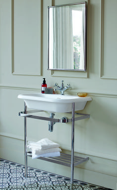 Create A Vintage Inspired Bathroom Natural Stone Basin Washstand From Burlington Bathrooms Http