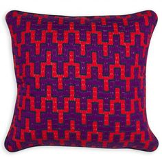 Jonathan Adler - Purple Stepped Chevron Bargello Throw Pillow