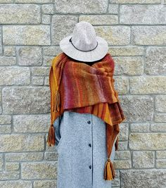 Oversized knitted shawl wrap women scarves by MyCozyBoutique