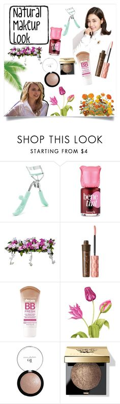 """""""Natural makeup look"""" by courtneyeddy ❤ liked on Polyvore featuring beauty, Forever 21, Benefit, Improvements, Maybelline and Bobbi Brown Cosmetics"""