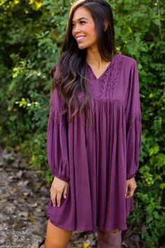 7a3800adafb Plum Crochet Boho Dress - Final. Bohemian FashionBohemian StyleDottie  Couture BoutiqueCrochet ...