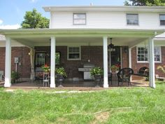 Covered Back Porch Designs Backyard Design Ideas For