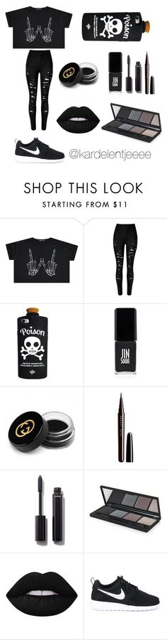 """#41"" by kardelentjeeee ❤ liked on Polyvore featuring Valfré, JINsoon, Gucci, Marc Jacobs, Chanel, Topshop, Lime Crime and NIKE"