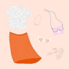 Illustration by Megan McNulty   Favourite things   outfit of the day   #OOTD