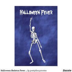 Halloween Skeleton Fever Invitation on Purple Haze Adult Halloween Invitations, Halloween Skeletons, Purple Haze, Colored Envelopes, Halloween Design, Envelope Liners, Custom Invitations, Paper Texture, Smudging