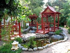 Chinese garden, Meet me here, for lunch or tea.