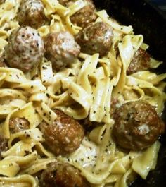 Meatballs Stroganoff. Fast, easy, delicious…for all of you busy moms who need to get dinner on the table after work in 30 minutes!
