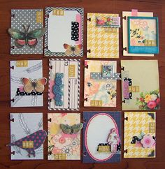 Month ATCs by Tessa Buys, via Flickr