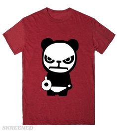 make my day | vector of very angry panda bear..lol #Skreened